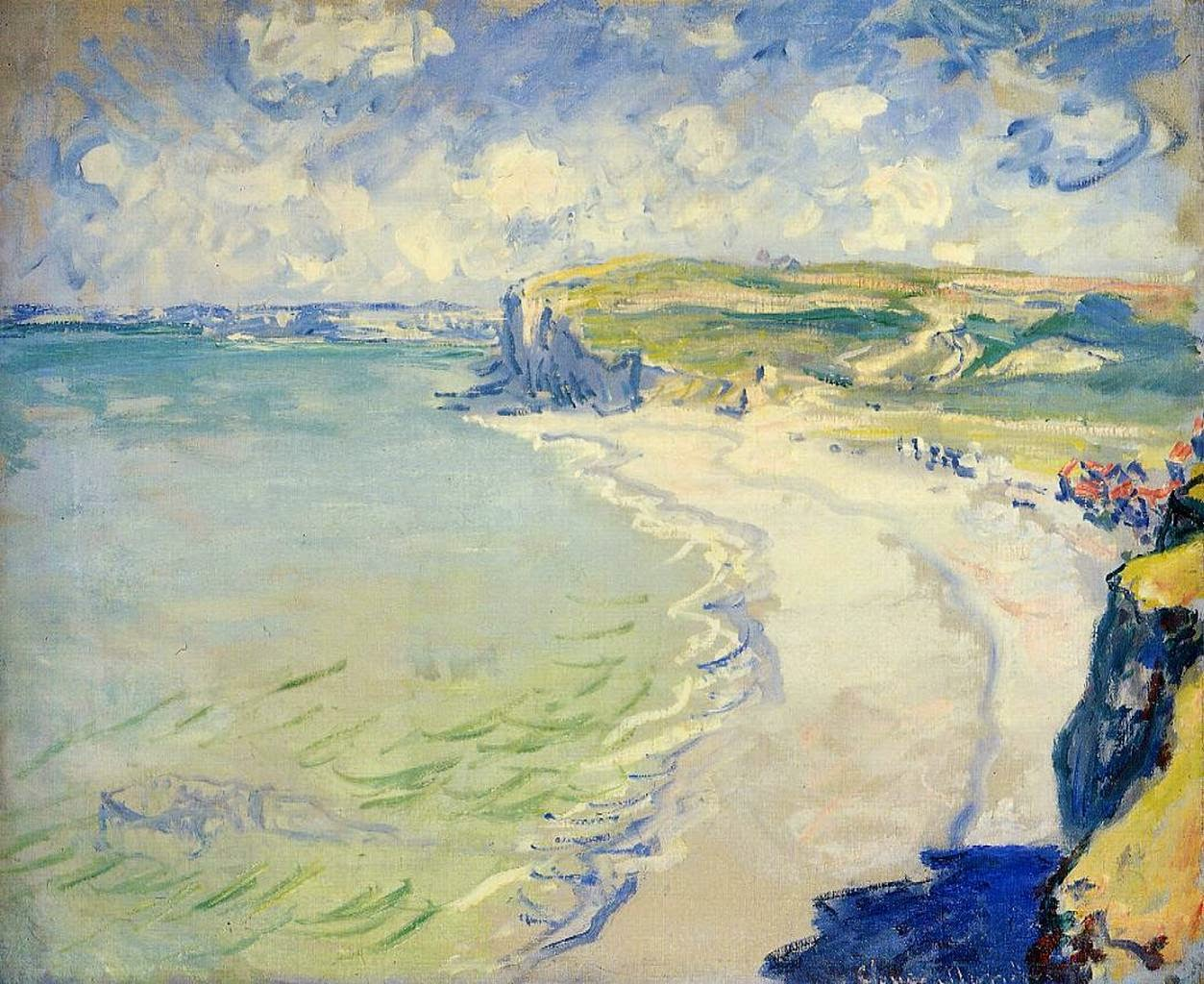 A Praia em Pourville - Pinturas de Monet Claude | O Pai do Impressionismo