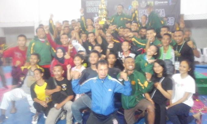 Divif 1/Kostrad Sabet Juara Umum Turnamen Karate HUT Ke-57 Kostrad