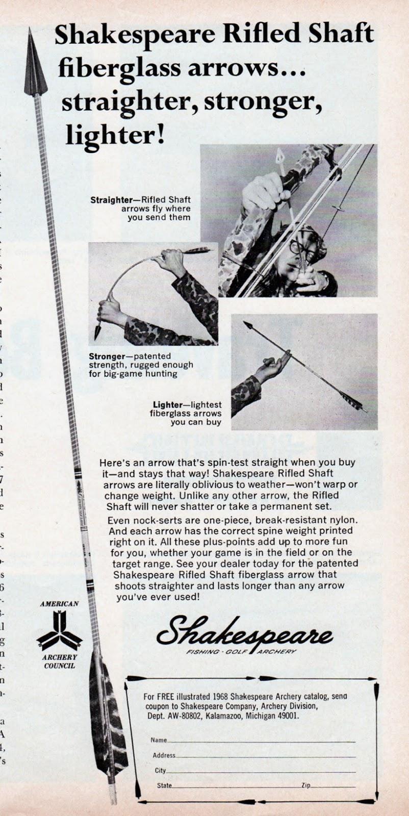 Vintage Shakespeare Root Archery Shakespeare Root
