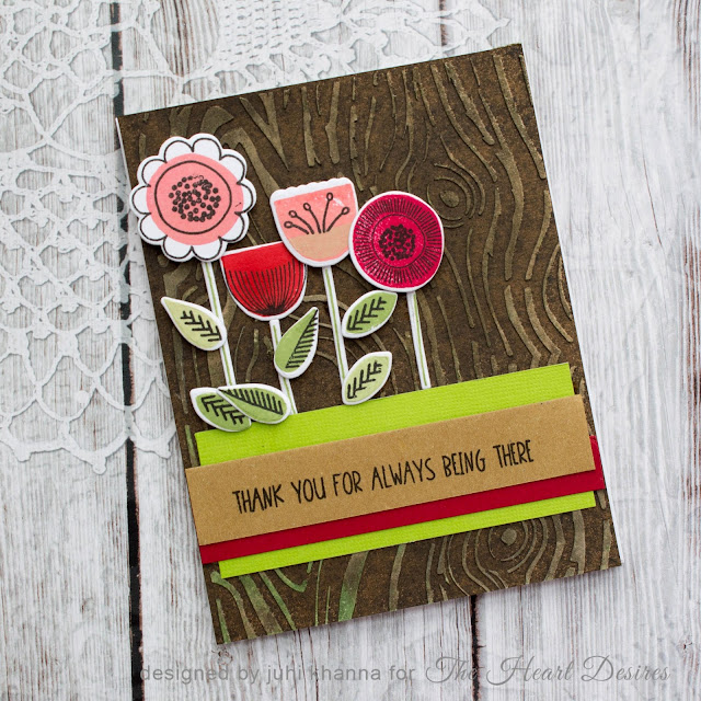 Thanks you card with Neat and Tangled Scandinavian Prints set