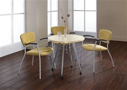 Contemporary Meeting Table with Round Top