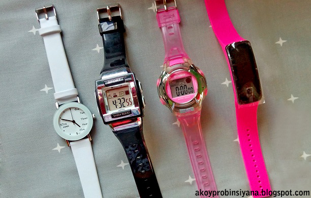 digital and analog watch in shopee