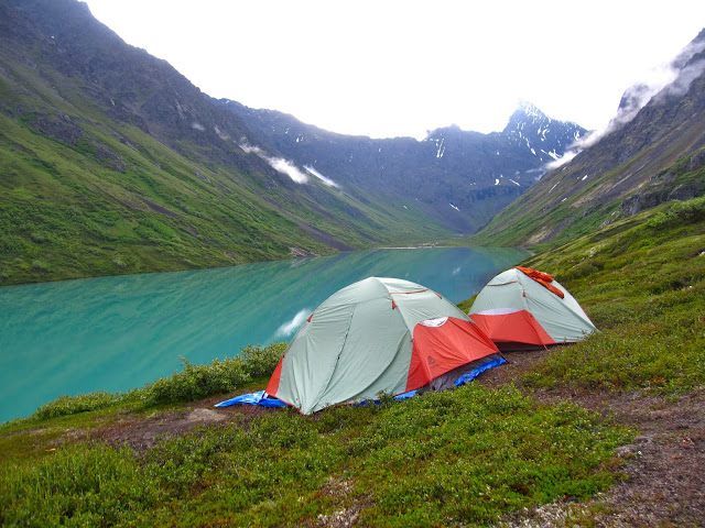 Camping at Eagle Lake, Alaska