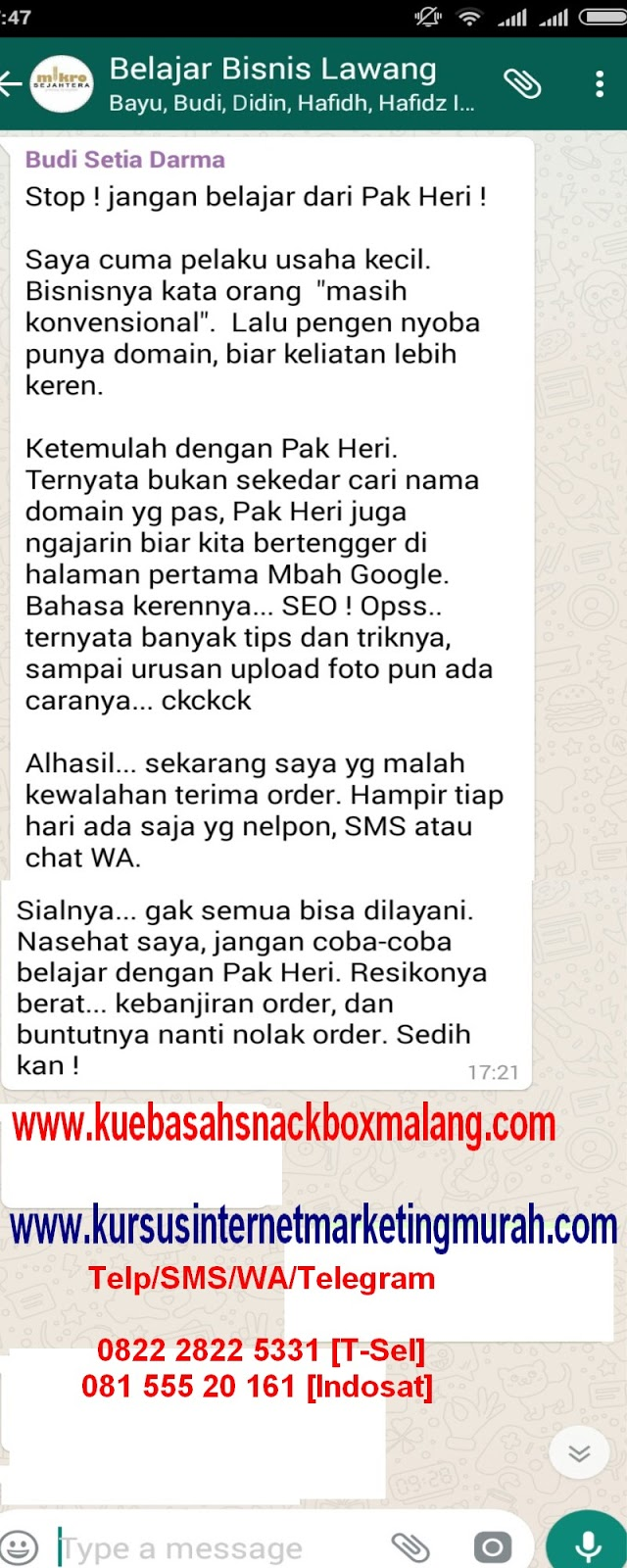 kursus internet marketing murah, belajar youtube marketing malang,