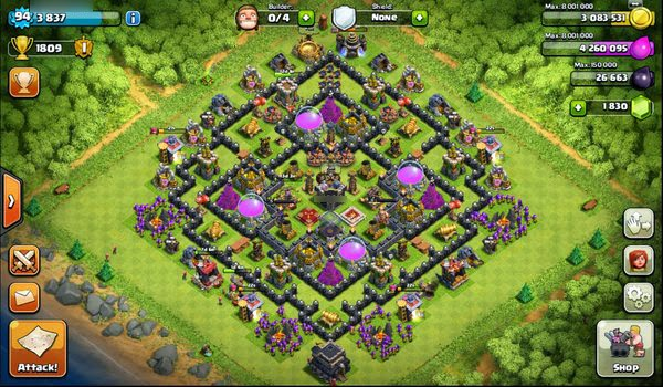 Base Coc Th 9 Anti Maling 11