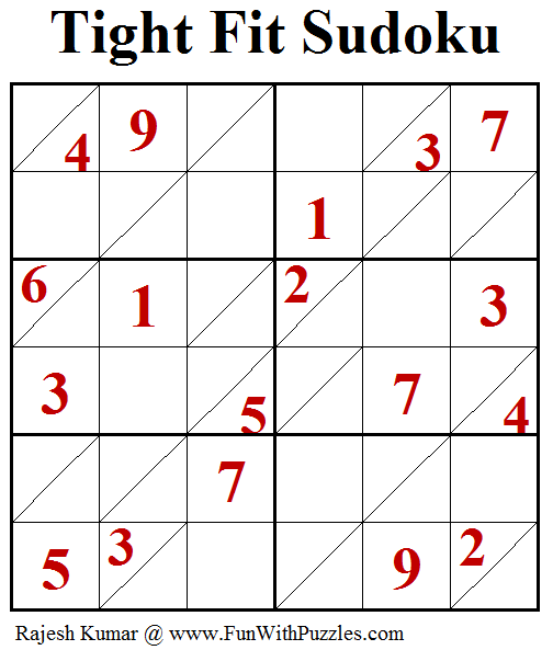 Tight Fit Sudoku Puzzle (Fun With Sudoku #244)