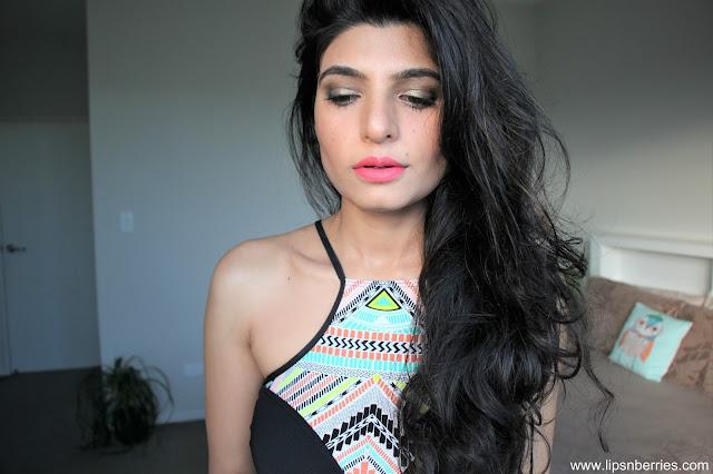 Loreal pink a porter lipstick on nc 35 skin