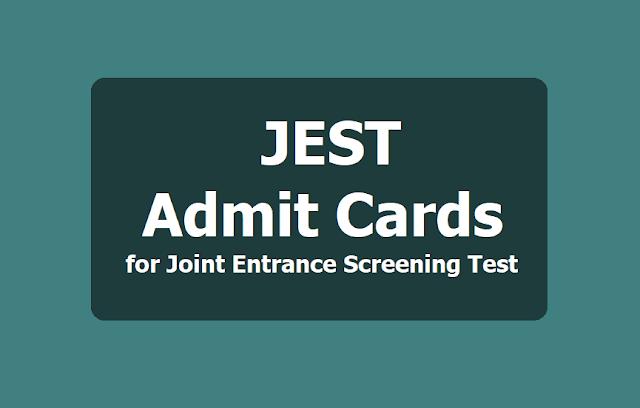 JEST Admit Cards