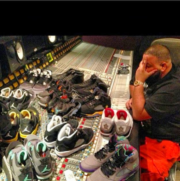 c1c96b20793e8b DJ Khaled Showing Off His Custom We The Best Air Jordan 3 s   More in The  Studio