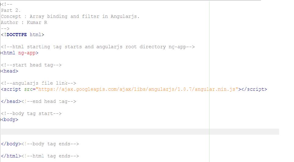 Angularjs Array Binding and Filter Concept - ArguTech