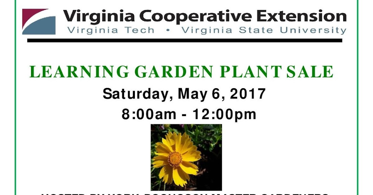 Virginia Cooperative Extension Master Gardener Program Learning Garden Plant Sale York
