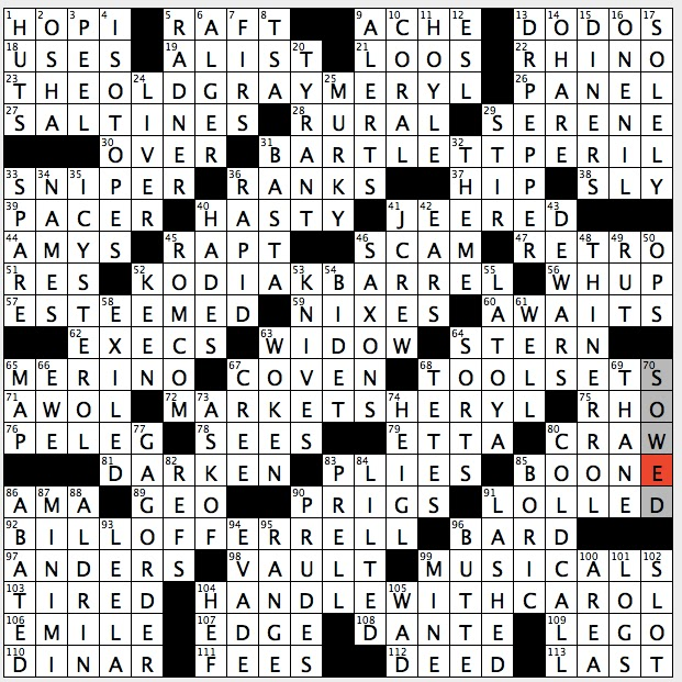 Rex Parker Does The NYT Crossword Puzzle Focus Of Onomastics SUN