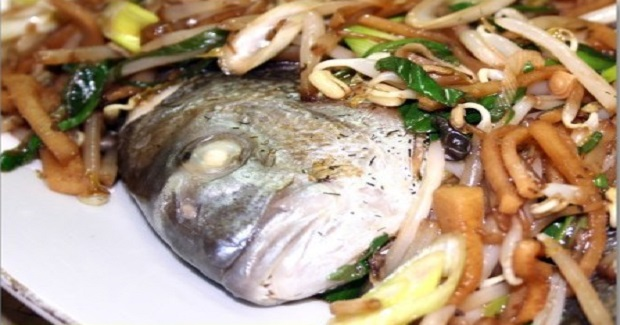 Steamed Fish With Togue(Bean Sprout Recipe)