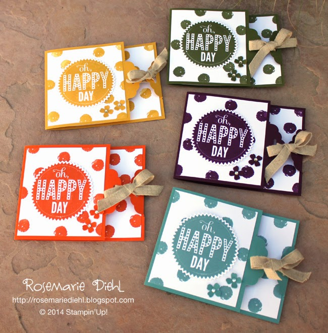 2014 In Colors Stampin Up: Rose's World: Oh Happy Day With The New 2014-2016 In Colors