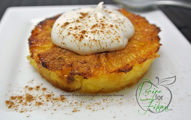 Grilled Guiltless Pineapple with Cheesecake Cream