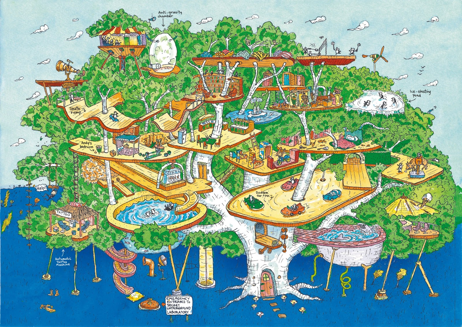 The 13 Story Treehouse By Andy Griffiths Illustrated By
