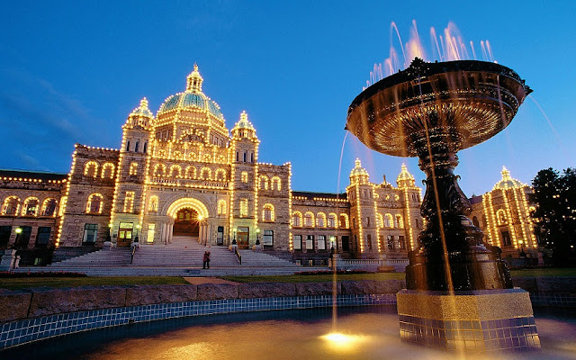 British Columbia Parliament Buildings em Victoria no Canada