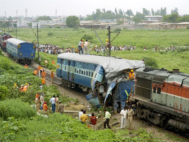 Kalindi Express derailed