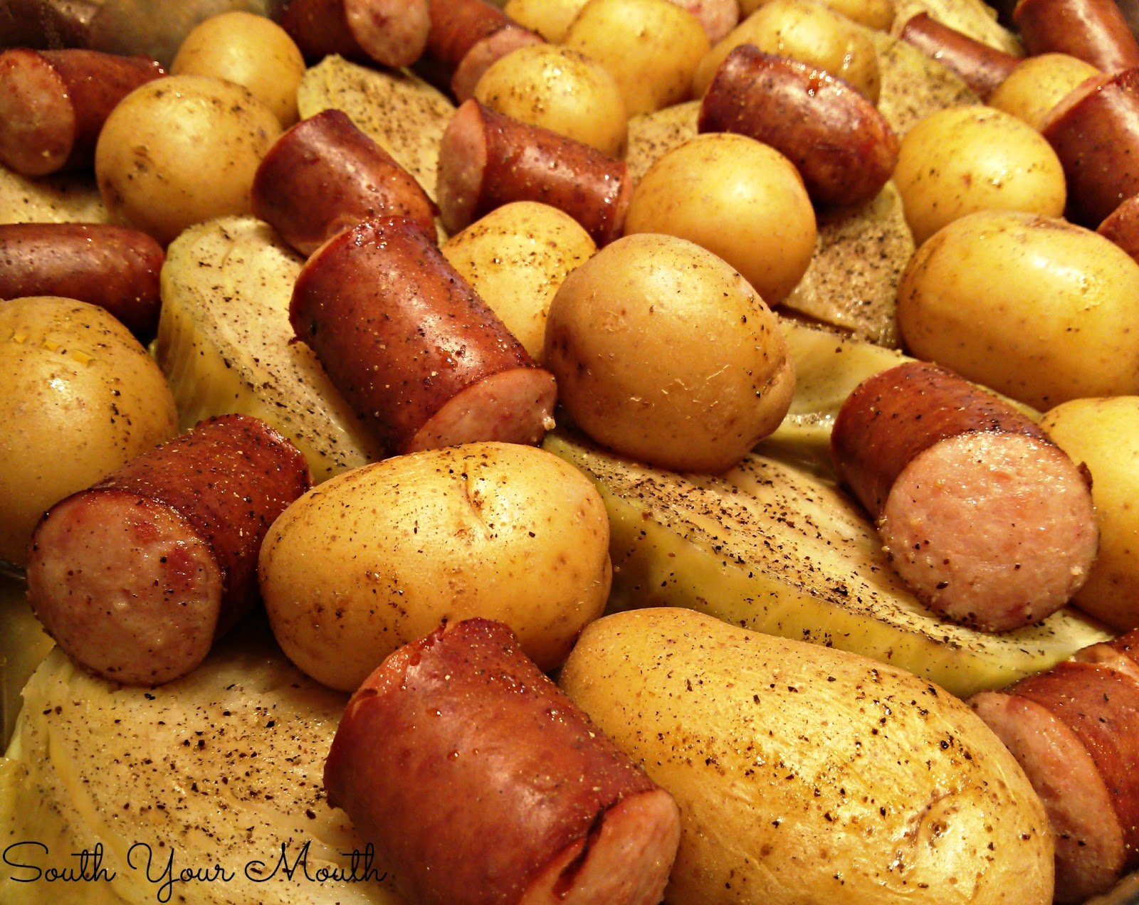 Boiled Dinner Cabbage Polish Sausage
