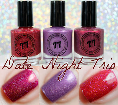 Date Night Trio from Seventy Seven Nail Lacquer