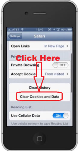 how to clear cookies on iphone how to clear cookies in apple iphone 1473