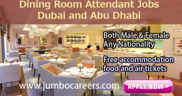 Dining Room Attendant Jobs in Dubai and Abu Dhabi with