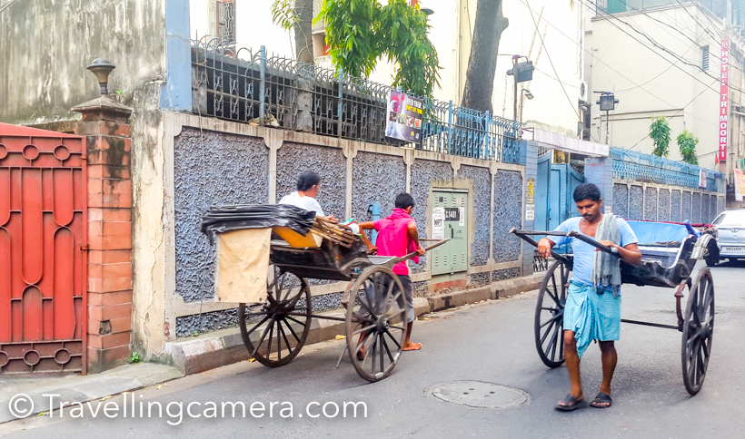 When we spent more time around the city, we realised that rickshaw pullers have good business in the city and since the charges are also high, they must be making reasonably good money on daily basis. We had less than 2-3 minutes ride for 30 rs, although I am sure that mathematics would not be as simple :).