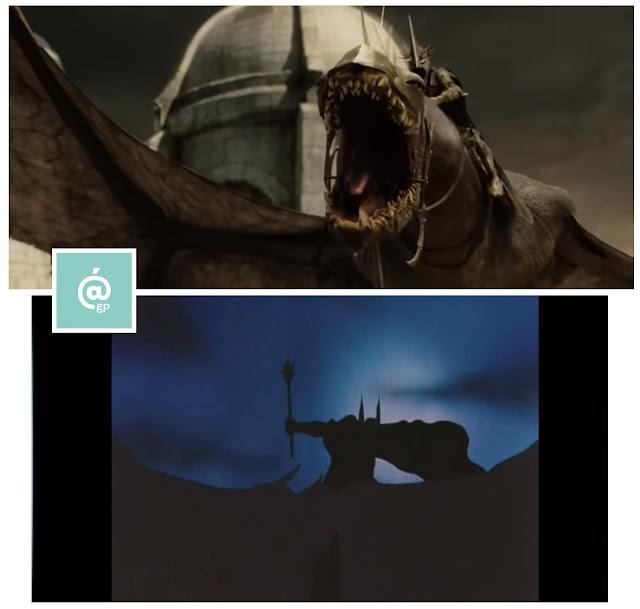 Bestias aladas - El Señor de los Anillos: Peter Jackson Vs Ralph Bakshi - JRRTolkien - ÁlvaroGP - el fancine - el troblogdita