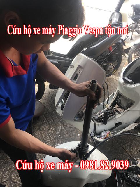 Sửa xe lưu động - Cứu hộ xe Vespa bị chết máy tận nơi