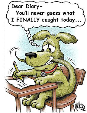funny cartoons joke very dog jokes cartoon dear diary animal silly tail funnies caught his own humor clean hilarious dogs