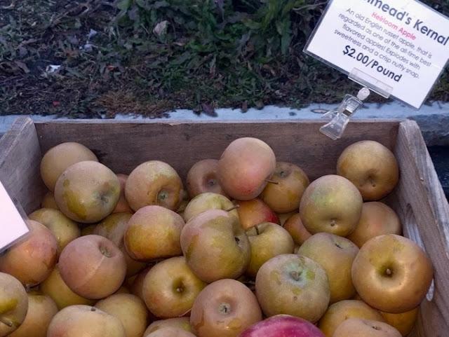A bin of Ashmeads''s Kernel apples