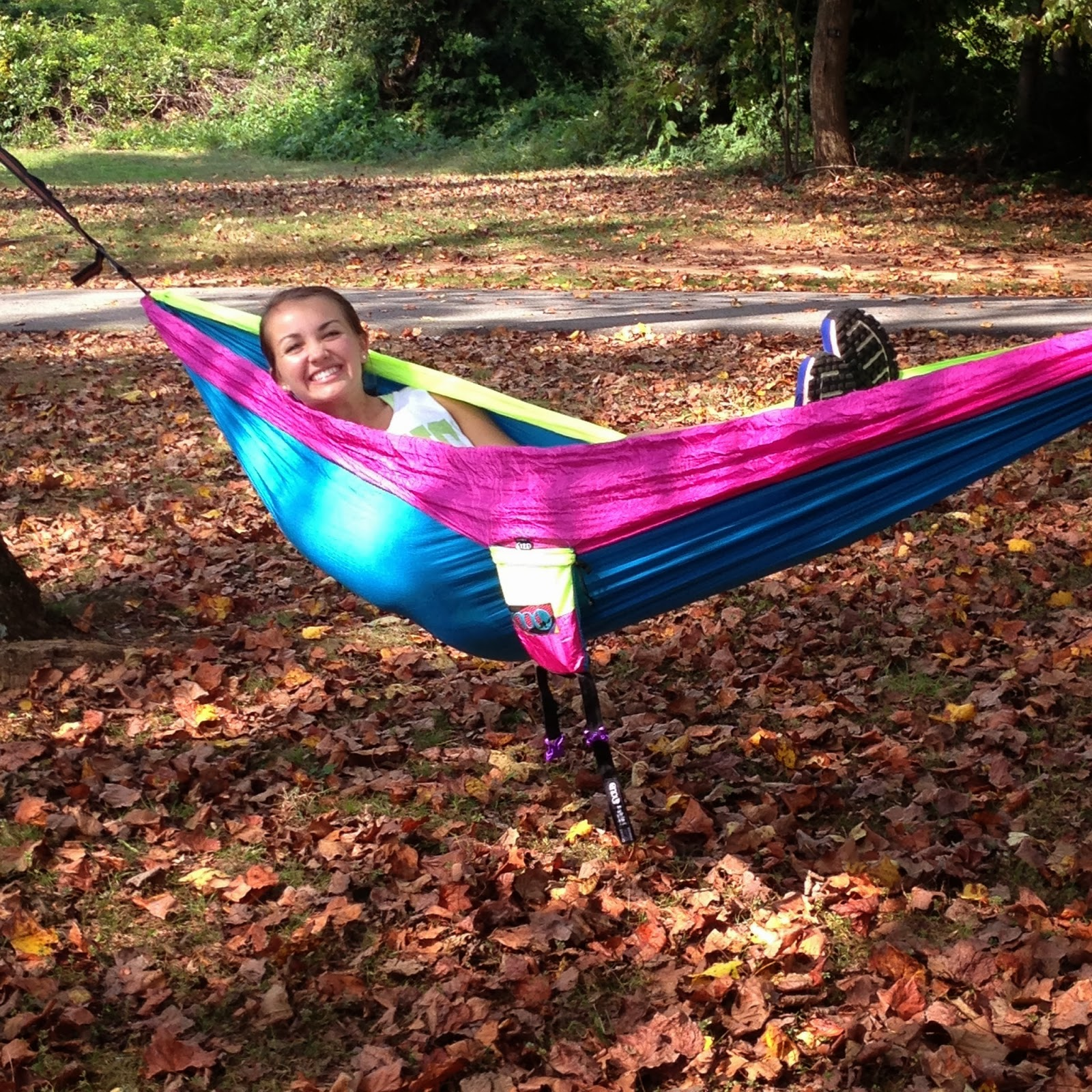 My Friends And I All Took Our Eno Hammocks Thanks Mom And Dad Out On Sunday Afternoon And Enjoyed Doing Some Homework By The Lake