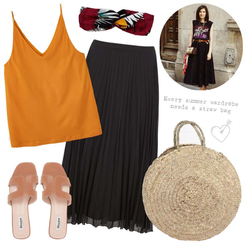 Three ways to wear - the pleated midi skirt | Summer sunshine