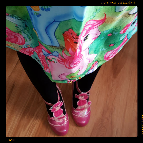 wearing irregular choice pretty poodle shoes and my little pony dress