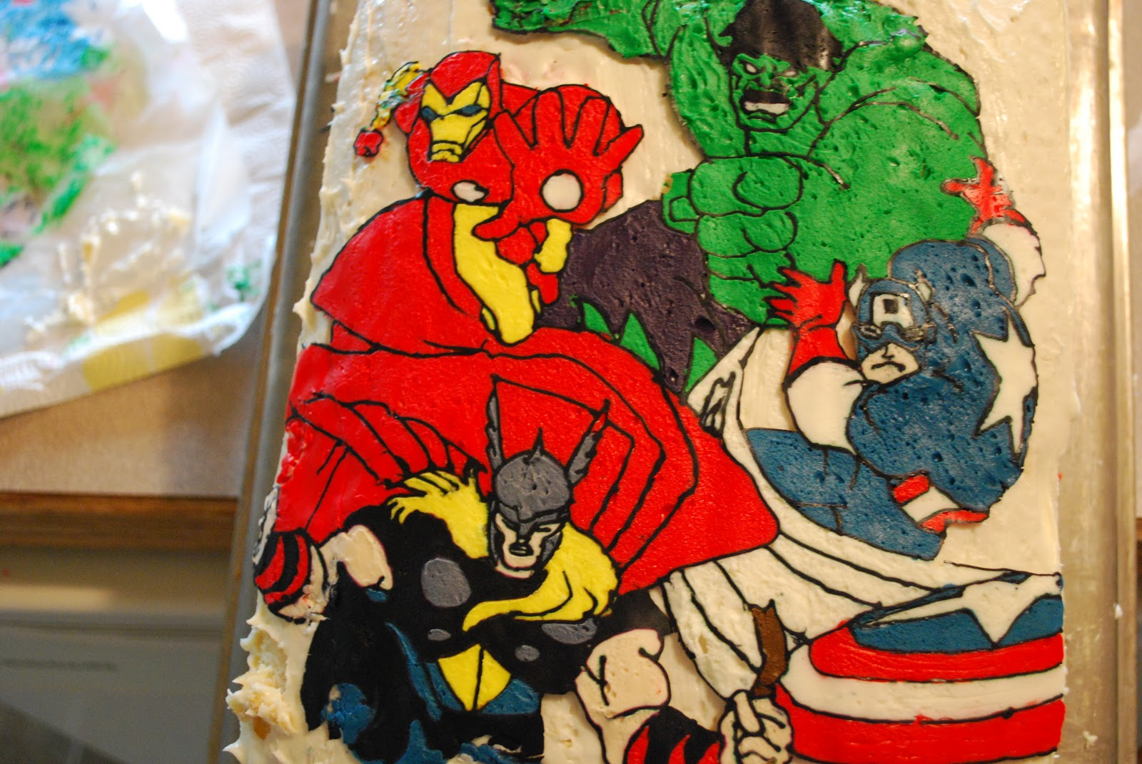 Sunshine and a Summer Breeze Avengers Birthday Cake