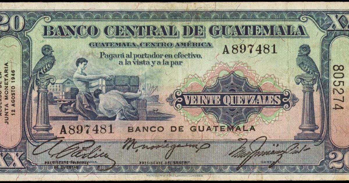Guatemala 20 Quetzal Banknote 1946 World Banknotes Amp Coins