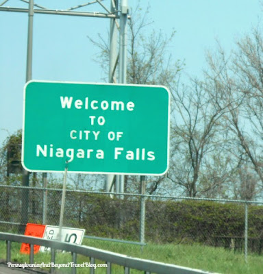 Welcome to the City of Niagara Falls New York - sign