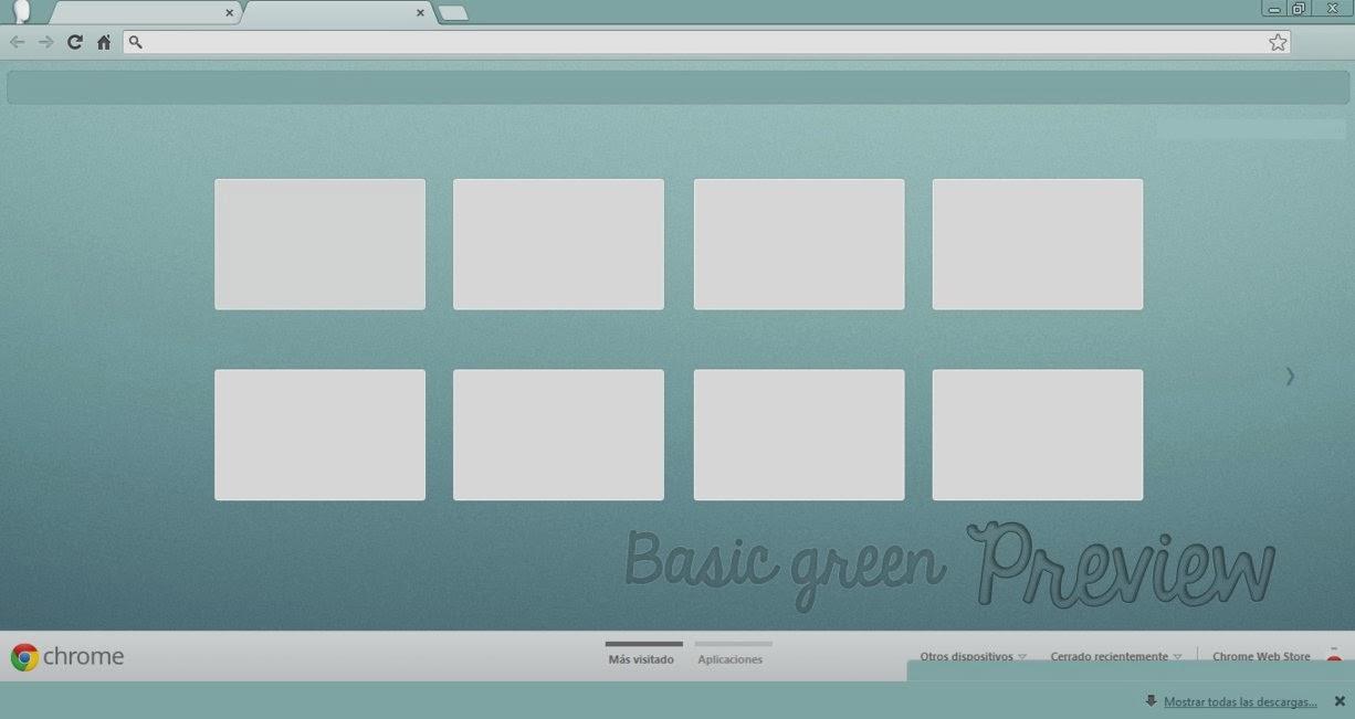 Mtfjblog ミニマルで美しいgoogle Chromeテーマ Basic Green