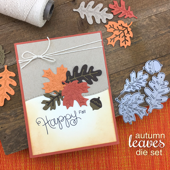 Happy Fall card by Jennifer Jackson |  Autumn Leaves Die by Newton's Nook Designs #newtonsnook #handmade