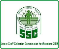 SSC Recruitment 2018, SSC Notification 2018,