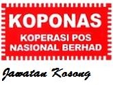 Jawatan Kosong Koperasi Pos Nasional Tarikh tutup 14 Jun 2017