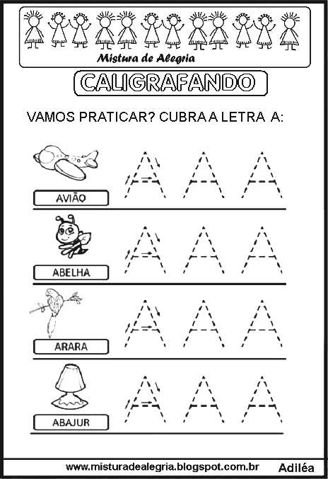 Atividades Para Baixar Alfabeto Pontilhado Caligrafando