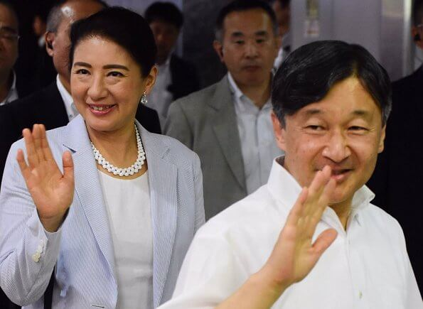 Emperor Naruhito, Empress Masako and Princess Aiko returned to Tokyo after a weekend holiday at Suzaki Imperial Villa