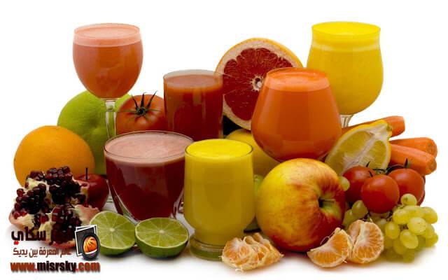 3 أنواع من عصير الفواكة والكوكتيل وطريقة التحضير