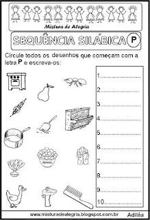 Sequência silábica, autoditados P