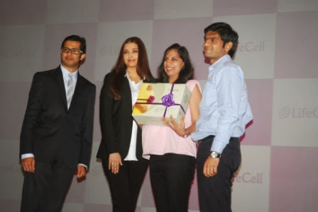 Aishwarya Rai Bachchan-Aishwarya-Mayur-Abhaya-Stem-Cell-LifeCell Press Conference-