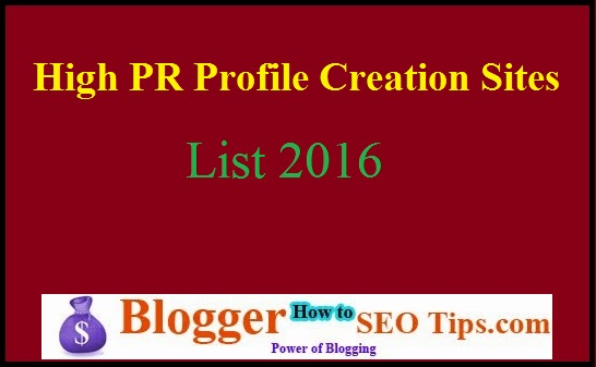 High PR website, High PR Sites List, Back Links