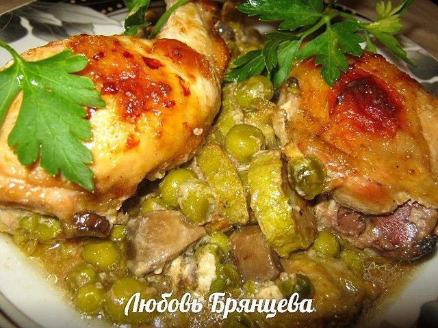 вкусное жаркое из курицы
