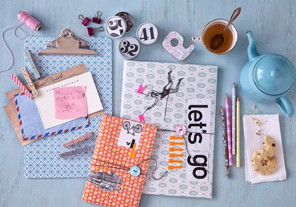 Twelve Inspiring DIY Projects - Mixed papercraft covered notebooks
