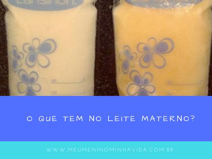 O que tem no leite materno?